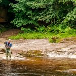 Fly fishing on the River Findhorn