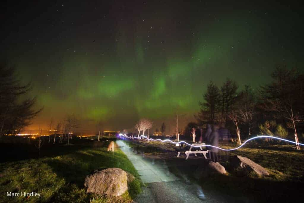 Aurora Borealis from Califer Hill
